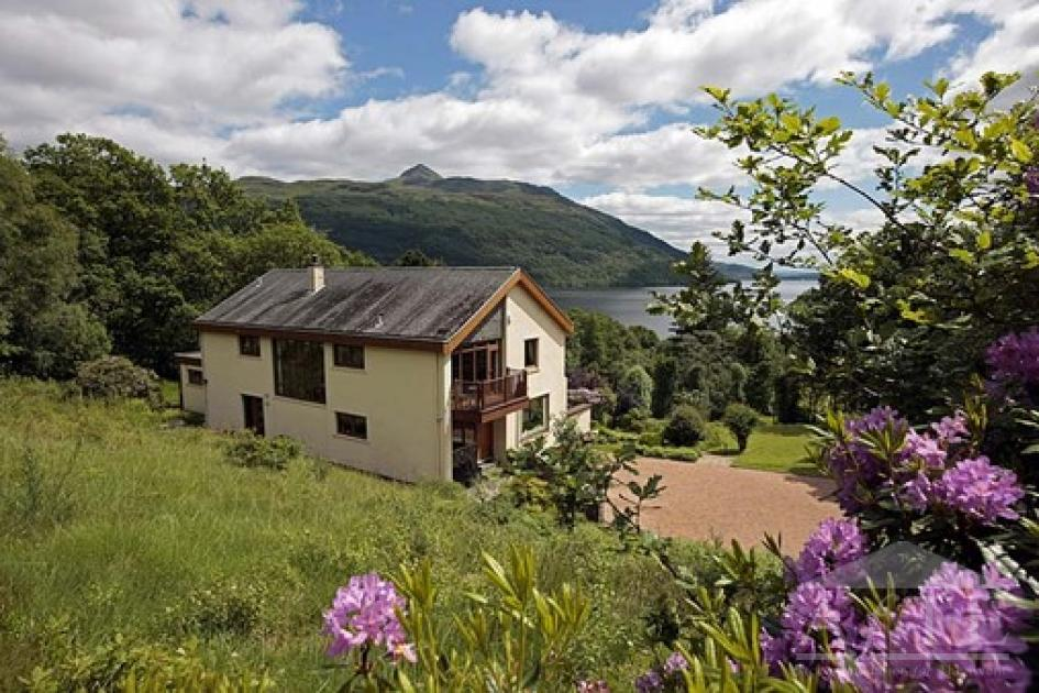 Ryder cup 2014 accommodation loch lomond trossachs national park - Beautiful panoramic view house to take full advantage of the scenery ...