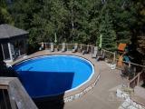 Pool, gazebo