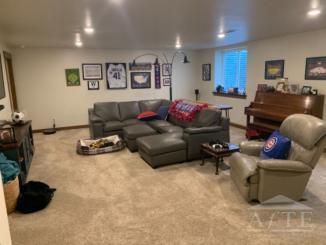 Basement red/living room